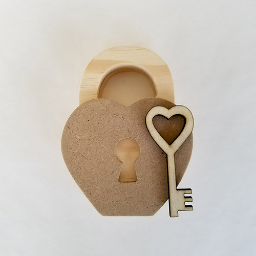 Foundations Decor - Home Collection - Wood Crafts - February - Lock and Key