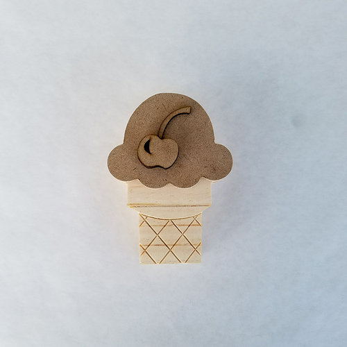 Foundations Decor - Home Collection - Wood Crafts - June - Ice Cream Cone