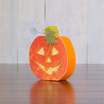 Foundations Decor - Home Collection - Halloween - Wood Crafts - October - Jack-O-Lantern