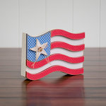 Foundations Decor - 4th of July Collection - Wood Crafts - July - USA Flag