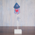 Foundations Decor - 4th of July Collection - Wood Crafts - July - Straight Rocket