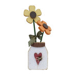 Foundations Decor - Summer Collection - Wood Crafts - Flower Jar