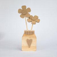 Foundations Decor - Summer Collection - Wood Crafts - Flower Jar