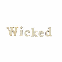 Foundations Decor - Halloween Collection - Wood Crafts - Word - Wicked