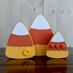 Foundations Decor - Halloween - Wood Crafts - Candy Corn Trio