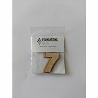 Foundations Decor - Wood Crafts - Wood Numbers - 7