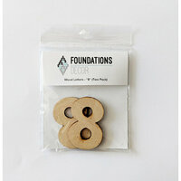 Foundations Decor - Wood Crafts - Wood Numbers - 8