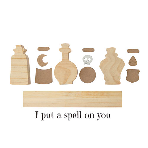 Foundations Decor - Halloween Collection - Wood Crafts - Potion Bottles