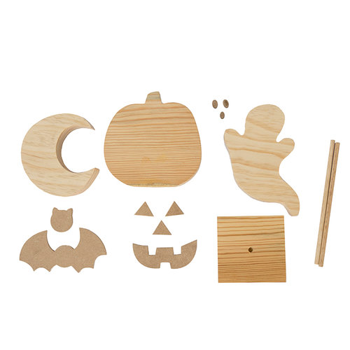 Foundations Decor - Halloween Collection - Wood Crafts - Halloween Combo