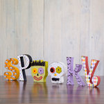Foundations Decor - Halloween Collection - Wood Crafts - Spooky with Skull and Frankenstein