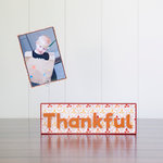 Foundations Decor - Thanksgiving Collection - Wood Crafts - Word - Thankful