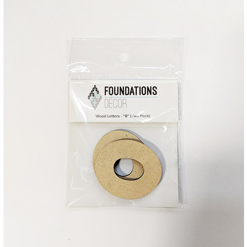 Foundations Decor - Wood Crafts - Wood Numbers - 0