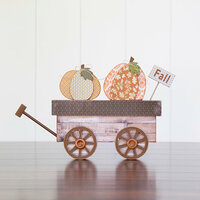 Foundations Decor - Thanksgiving Collection - Wood Crafts - Harvest Wagon