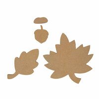 Foundations Decor - Thanksgiving Collection - Wood Crafts - Falling Leaves and Acorn