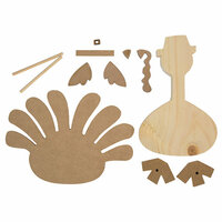 Foundations Decor - Thanksgiving Collection - Wood Crafts - Standing Turkey