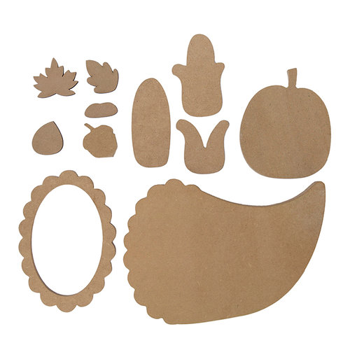 Foundations Decor - Thanksgiving Collection - Wood Crafts - Cornucopia