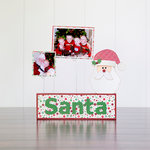 Foundations Decor - Christmas Collection - Wood Crafts - Picture Holder - December Complete Set