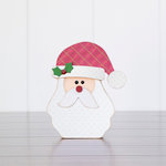 Foundations Decor - Christmas Collection - Wood Crafts - December Santa