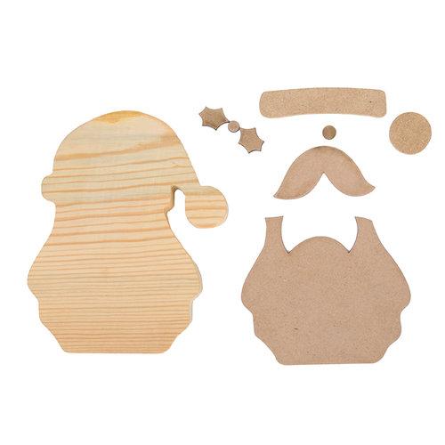 Foundations Decor - Christmas Collection - Wood Crafts - December Santa