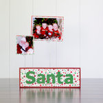 Foundations Decor - Christmas Collection - Wood Crafts - Word - Santa