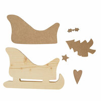 Foundations Decor - Christmas Collection - Wood Crafts - Christmas Sleigh