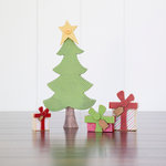 Foundations Decor - Christmas Collection - Wood Crafts - Presents under the Tree