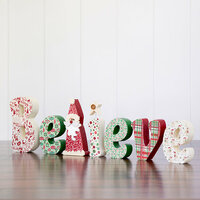 Foundations Decor - Christmas Collection - Wood Crafts - Believe with Santa and Star