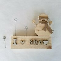 Foundations Decor - Winter Collection - Wood Crafts - Picture Holder - January Complete Set