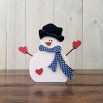 Foundations Decor - Winter Collection - Wood Crafts - Snowman with Arms