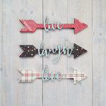 Foundations Decor - Wood Crafts - House Arrow