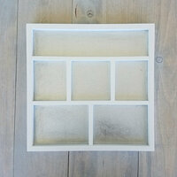 Foundations Decor - Magnetic Shadow Box - White
