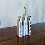 Foundations Decor - Family Collection - Wood Crafts - Small Temple with Statue