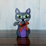 Foundations Decor - Halloween Collection - Wood Crafts - Cat