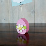 Foundations Decor - Wood Crafts - Place Card Holder - Easter