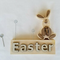 Foundations Decor - Easter Collection - Wood Crafts - Picture Holder - Easter Complete Set