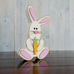 Foundations Decor - Easter Collection - Wood Crafts - Easter Bunny