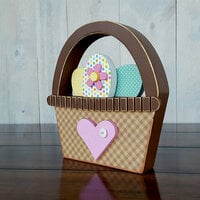 Foundations Decor - Easter Collection - Wood Crafts - Basket of Eggs