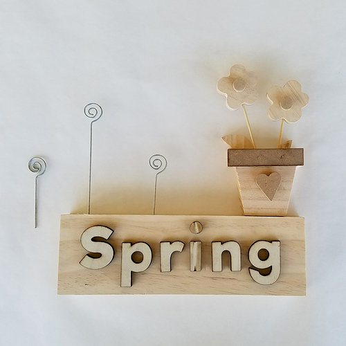 Foundations Decor - Spring Collection - Wood Crafts - Picture Holder - Spring Complete Set