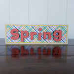 Foundations Decor - Spring Collection - Wood Crafts - Word - Spring