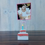 Foundations Decor - Wood Crafts - Place Card Holder - Birthday Cake