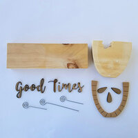 Foundations Decor - Autumn Collection - Wood Crafts - Picture Holder - Good Times Complete Set