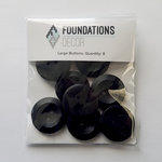 Foundations Decor - Buttons - Large - Black