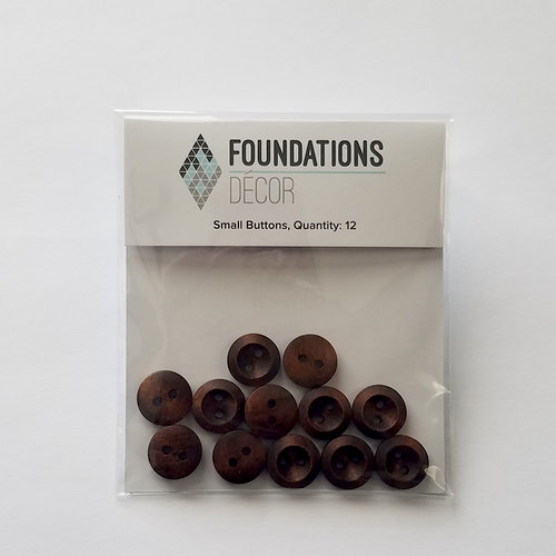 Foundations Decor - Buttons - Small - Brown
