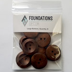 Foundations Decor - Buttons - Large - Brown