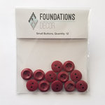 Foundations Decor - Buttons - Small - Red