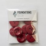 Foundations Decor - Buttons - Large - Red