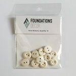 Foundations Decor - Buttons - Small - Off White