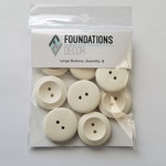 Foundations Decor - Buttons - Large - Off White