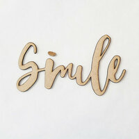 Foundations Decor - Wood Crafts - Connected Words - Smile - Script Font