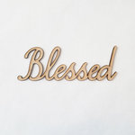 Foundations Decor - Wood Crafts - Connected Words - Blessed - Smooth Font